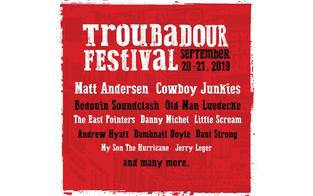 Troubadour Festival – 30+ music artists performing in 7 different venues
